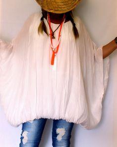 Tunique blouse grande taille blanche sur www.soobysophie.com