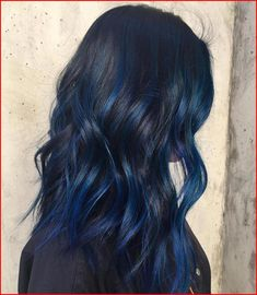 50 Blue Hair Highlights Ideas - Hair Colour Style Blue highlights are becoming more and more popular as people become more adventurous with their hair. It can be very liberating to have unique and fun hair colors as your norm. Icy Blue Hair, Silver Blue Hair, Electric Blue Hair, Midnight Blue Hair, Bright Blue Hair, Royal Blue Hair, Blue Black Hair Color, Navy Hair, Dark Hair With Blue