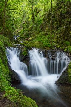 Emerald Falls- Spring - the beautiful photography of Patricia Davidson on Fine Art America.
