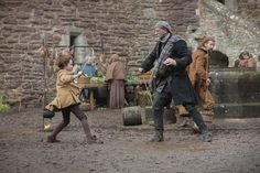 Wee Hamish and Dougal....a skirmish in the Castle courtyard
