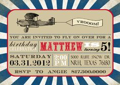 DIY Printable airplane birthday by SongbirdGreetings on Etsy, $20.00