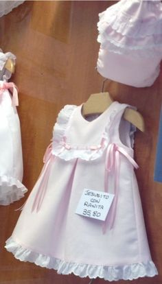 Cute Little Girl Dresses, Little Girl Outfits, Baby Girl Dresses, Toddler Outfits, Baby Dress, Kids Outfits, Moda Kids, Baby Frocks Designs, Baby Sewing