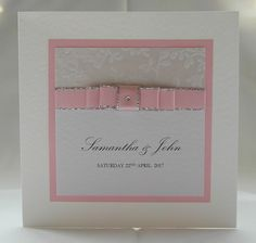 Elegance Wedding Invitation, Pink, Handmade