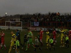 Albions fans go to Accrington to see them play Plymouth when our match at Blackburn was rained off!