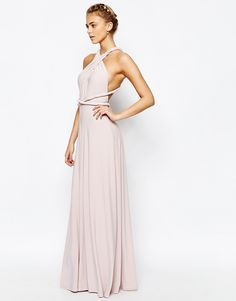 Coast Corwin V Neck Multiway Maxi Dress in Blush