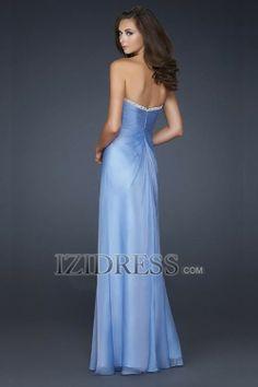 A-Line Sheath/Column Strapless Sweetheart Chiffon Evening Dress - IZIDRESS.com at IZIDRESS.com