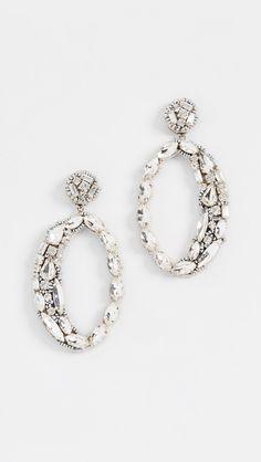 Deepa Gurnani Deepa By Deepa Gurnani Frieda Earrings Deepa Gurnani, Classy Yet Trendy, Quirky Decor, Central Saint Martins, White Sand Beach, Wearing Black, Jewelry Accessories, Stud Earrings