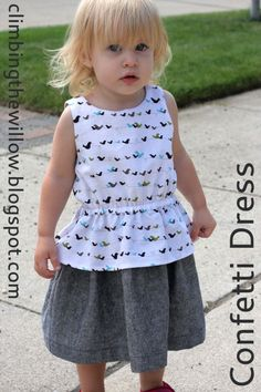 Confetti Dress Sewing Tutorial for all sizes - FREE 2T Pattern