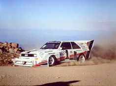 Pike's Peak Hill Climb 1987 Walter Röhrl. #rally #rallye #ralli #hillclimbe #motor #wheels #driving #followers Audi Sport, Sport Cars, Race Cars, Audi Rs4, Audi Quattro, Hill Climb Racing, Pikes Peak, Rally Car, Vintage Racing