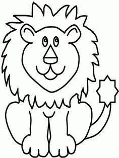 Coloring Pages Animals Lion Printable Coloring Sheet Wallpaper