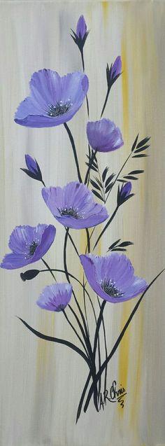 Peinture acrylique sur toile châssis 3D 20x50. Modèle unique. peint à la main par Raffin Christine. Facebook : L'étoile de Chris