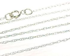 Chain necklace 14KT white gold