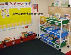 Classroom Library Center in Preschool Pre-K and Kindergarten