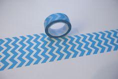 Tape PFEILE CHEVRON ZICKZACK TÜRKIS iceblau blau  von washitapes auf DaWanda.com