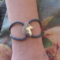 Siberian Husky profile bracelet. SiberianArt Jewelry By Amit Eshel. www.siberianartjewelry.etsy.com