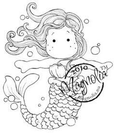 cute mermaid cute mermaid the little mermaid magnolia stamps digi stamps coloring