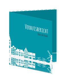 Oer hollandse verhuiskaarten rij huisjes #verhuiskaartje #verhuiskaart