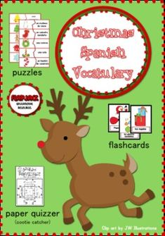 FREE Christmas Spanish Vocabulary Activities - Have fun teaching Spanish during the holiday season with these three vocabulary activities that cover 16 commonly used Christmas words.