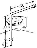 Floor mounted toilet grab bars disabledbathroomsafety see more tips at http www for Commercial bathroom grab bars
