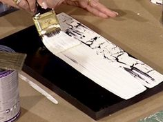 DIYNetwork.com experts demonstrate an easy-to-do crackle finish that gives a piece the aged look of peeling paint.