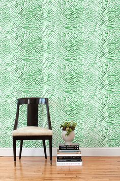 This is how 9 removable wallpaper tiles look ($33/each) This is an awesome solution for renters. Raindrops (Jade) Tile – Hygge & West