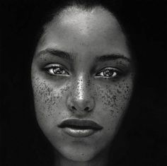 Freckles. Photo by Irving Penn.