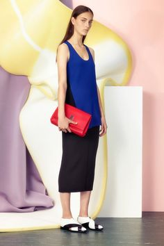 Proenza Schouler | Resort 2015 Collection | Look 13. a case for sandals with socks...