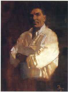 Bernie Fuchs, portrait of Hodges Soileau, c.1992.