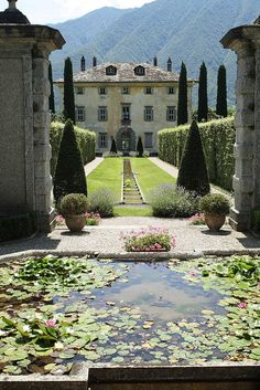 Villa Balbiano, Italy - A privately owned property protected by high walls, Villa del Balbiano allows its elegant garden to be glimpsed from the large gate, overlooking via Regina road that from the town of Ossuccio leads to Lenno on Lake Como.
