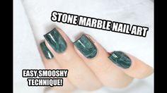 How To: Easy Aventurine Stone Marble Nail Art - Smooshy Stamping Technique || Marine Loves Polish - YouTube