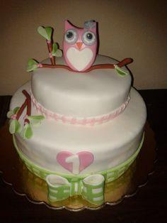 owl cake www.facebook.com/criaideia