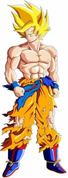 Goku Super Saiyajin 1 by mr. Dragon Ball Gt, Dragon Z, Manga Dbz, Manga Dragon, Goku Y Vegeta, Son Goku, Dbz Characters, Fanart, Super Saiyan