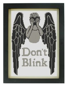 Don't Blink Cross Stitch Pattern by TheIronStitch on Etsy, £2.00