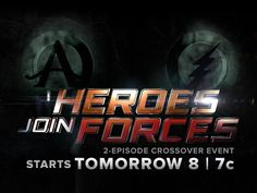 The Flash and Arrow crossover event begins TOMORROW at 8/7c!