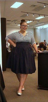 12fd93bdb5d Plus Size High Waist Flare Skirt
