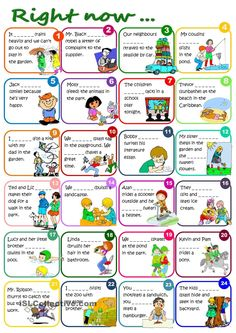 Right now... - Present Continuous worksheet - Free ESL printable worksheets made by teachers