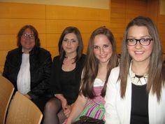 Brigitte com três das minhas estudantes.