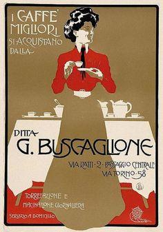 Aleardo Terzi Caffè Buscaglione, 1905 ca