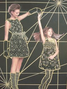 awesome Klimt Gold Patterns collage project! more examples on website!