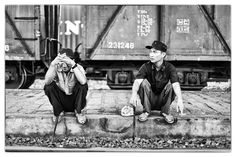 A week of Faces of Vietnam… Break time! Waiting for a train, I spotted these two on the edge of the tracks. Shot on a Canon EOS 1Ds Mk III and 85mm f/1.2 lens, in April, 2011. #Vietnam #SouthEastAsia #trains #faces #BW #BlackAndWhite #BW #PhotoJosephWeekOfSeries