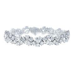 Harry Winston 'Winston Cluster' Small Diamond Bracelet