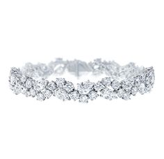 Treat. Yo. Self. Winston Cluster by Harry Winston, Small Diamond Bracelet