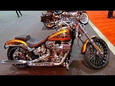 2014 Harley-Davidson CVO Breakout Walkaround - 2014 Toronto Motorcyle Show Harley Davidson Breakout Custom, Harley Davidson Images, Harley Davidson Chopper, Harley Davidson Motorcycles, Safari, Best Classic Cars, Lady Biker, Recreational Vehicles, Super Cars