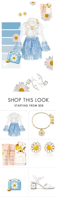 """Daisy"" by huyennn ❤ liked on Polyvore featuring Rasario, Alex and Ani, Marc Jacobs, AZ Collection, Mark Cross and Prada"