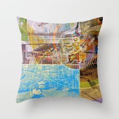 Collateral^2ndHand°FloodNewz Throw Pillow by ChiTreeSign - $20.00