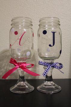Mason Jar Wine glasses  $12 each Shipping $6