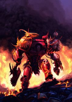 The XII Primarch Angron the Red Angel, the XII son of the Emperor of Mankind, Primarch of the World Eater chaos space marine legion, Demon Prince of Khorne. Warhammer Lore, Warhammer Fantasy, Warhammer 40000, St Max, The Enemy Within, Art Archive, High Fantasy, Space Marine, Art Challenge