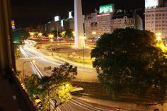 Buenos Aires nocturno. Avenida 9 de Julio