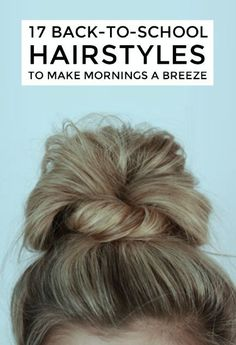 Schools back in session and that means waking up to an alarm and the fleeting desire to perhaps comb your hair and put on a fresh outfit before heading out to class. Its tough. But your hairstyles dont have to be! Check out these quick and easy dos that you can do in a flash in the morning — even after youve hit snooze six times.