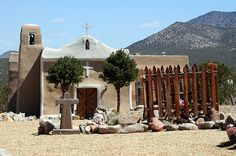 San Francisco de Asis Church Spanish Mission Golden Madrid New Mexico Turquoise Trail Scenic Byway